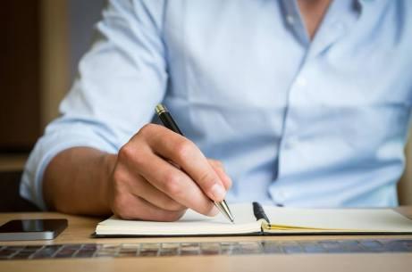Man writing - Wadhefty Cover