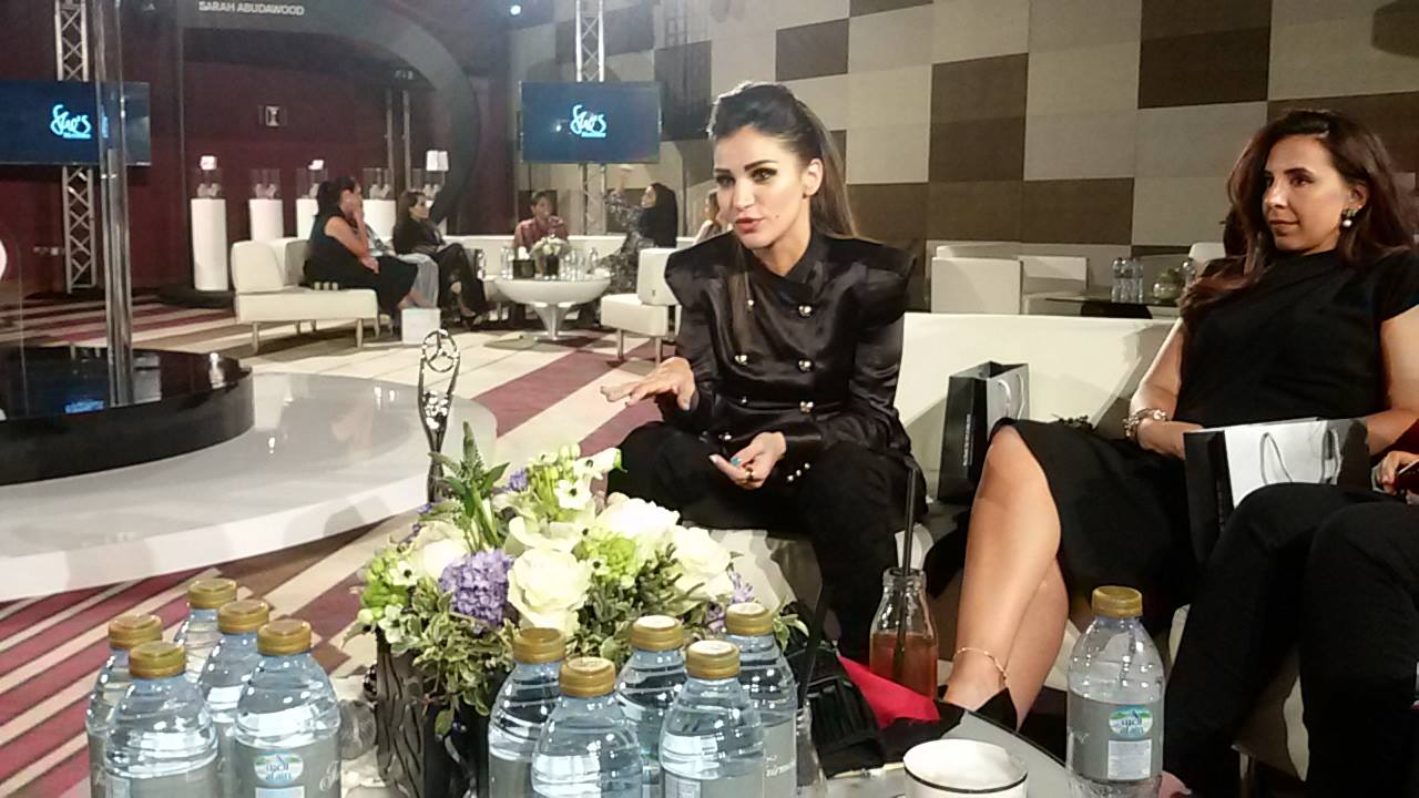 Mariam Yehia speaking to She's Mercedes event in Abu Dhabi